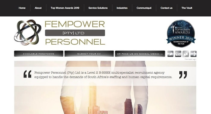 List Of Recruitment Agencies In Johannesburg - Fempower Personnel