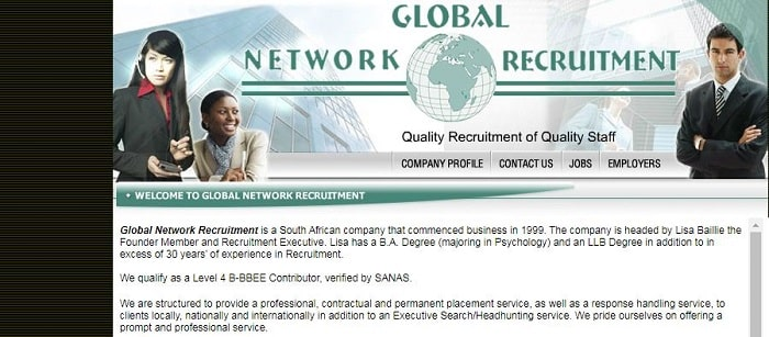 List Of Recruitment Agencies In Johannesburg - Global Network Recruiters