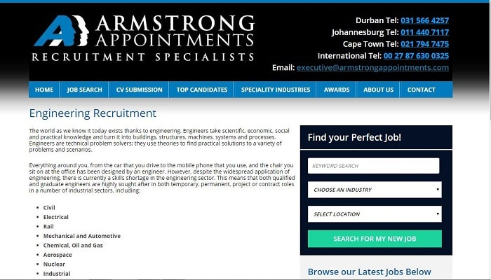 List Of Recruitment Agencies In Johannesburg - Armstrong Appointments