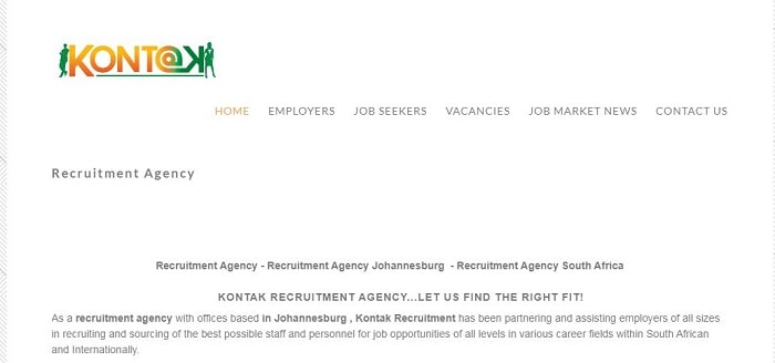List Of Recruitment Agencies In Johannesburg - Kontak