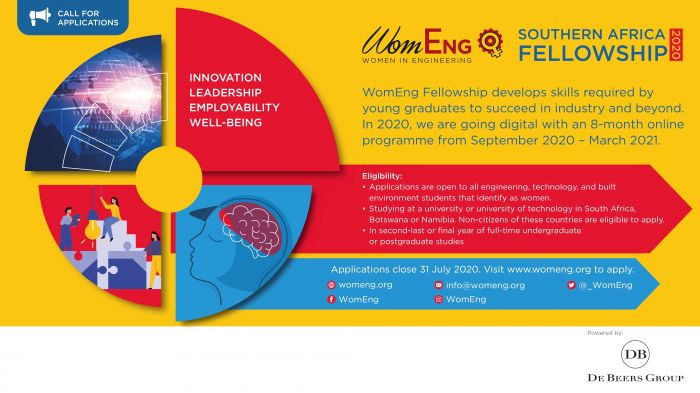 Applications for WomEng Southern Africa Fellowship 2020