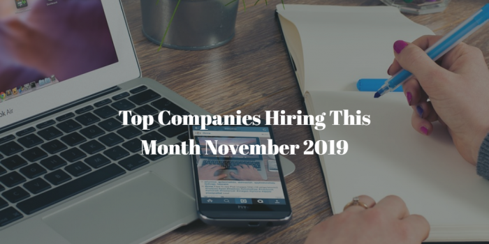 Top Companies Hiring November 2019 in South Africa
