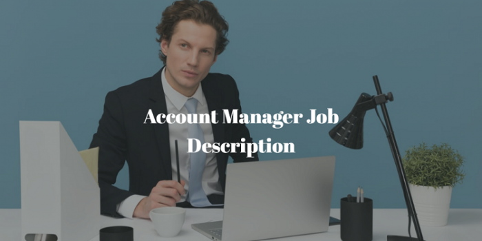Account Manager Job Description
